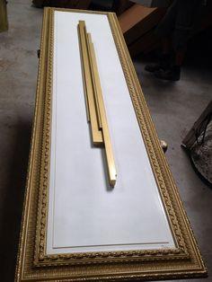 Luxurious radiator. Cinier Royal with sculpture. Art designer radiator. Handmade. Gold and white.