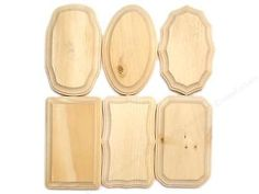 """Unfinished wood plaques 3.5"""" x 5.5"""" Set of 6 crafts, woodcrafts, unfinished sign"""