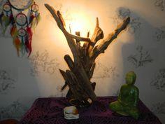 Driftwood Table Lamp for Bedside or Living by DriftwoodArtDesigner, £42.50
