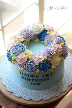 [Jess Cake]한살 생일을 맞이한 Ian군의 돌케익 : 네이버 블로그