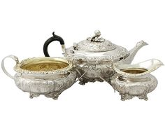 Sterling Silver Three Piece Tea Service - Antique George IV  SKU: A3967 Price  GBP £1,995.00  http://www.acsilver.co.uk/shop/pc/Sterling-Silver-Three-Piece-Tea-Service-Antique-George-IV-67p8013.htm