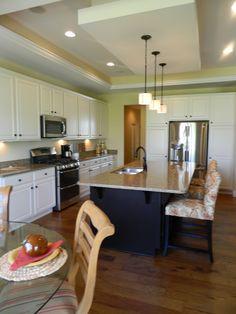 open concept kitchen island white kitchen