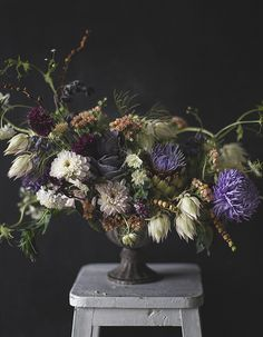 Kreetta Järvenpää is an artist and a photographer based in Helsinki, Finland. Flowers and food turns into art in her hands. Deco Floral, Arte Floral, Floral Design, Wedding Arrangements, Floral Arrangements, Wedding Centerpieces, My Flower, Flower Art, Wedding Table Flowers
