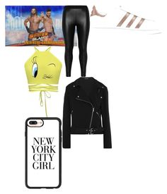 """""""Seth Rollins"""" by dezaraemartinez ❤ liked on Polyvore featuring Champion, Zizzi, adidas Originals, Casetify and Equipment"""