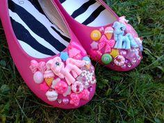 Super Kawaii Shoes Cute Custom Pink My Little Pony Ballet Flats