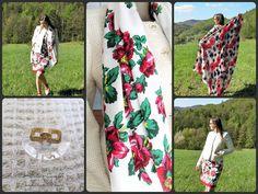 Dress / Jacket / Scarf / Pareo / Ballerines DIY / Designer / Pattern / Sewing / Style by Iwakki. Inspiration: Mountains; Polish folk and culture.