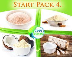 STARTPACK=Kokosmehl,Mandelmehl,Xylit Zucker,Himalaya Salz 4x500g