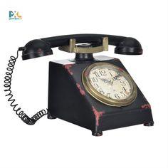 Dekoratívne hodiny, ktoré sa môžu stať dokonalým doplnkom Vašej domácnosti, kancelárie, pracovne alebo obývačky. Landline Phone, Bronze, Display, Led, Retro, Accessories, Design, Floor Space, Billboard