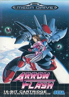 Arrow Flash - scrolling shooter video game developed by Sega and published by Se. Mega Drive Games, Sega Mega Drive, Retro Video Games, Video Game Art, Retro Games, Games Box, Old Games, Sega Genesis, Arrow Flash