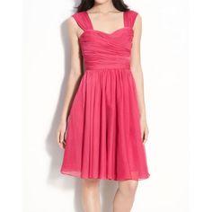 short chiffon bridesmaid dress