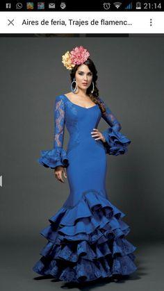 Flamenca Flamenco Costume, Flamenco Dancers, Spanish Fashion, Mexican Dresses, Mermaid Gown, Modest Outfits, Dance Dresses, Baby Dress, Cake Images