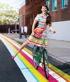 Kate Spade bicycle (with Bryce Dallas Howard)