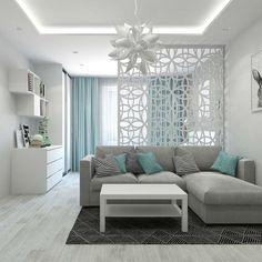 Studio Apartment Furniture, Small Apartment Interior, Studio Apartment Decorating, Apartment Design, Home Room Design, Living Room Designs, Living Room Decor, Bedroom Decor, Bedroom Ideas
