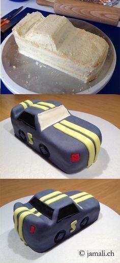 Auto Torte / Gâteau voiture / Gâteau Dekor de Cindy Brütsch / www.jamali.ch   - Torten & Muffins! - #auto #Brütsch #Cindy #de #Dekor #gâteau #muffins #Torte #Torten #Voiture #wwwjamalich