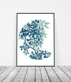 Leaf Print Art, Botanical Prints, Tree Foliage Art, Green Leaves Art. By Little Ink Empire Etsy