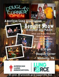 SoundOff: July 30: #NashvilleMusic Douglas Corner Benefit for Joey Pukash, with Allen & Kelly Shervelle & Marc-Alan Barnette, Batson Haines (Jeff Batson & Eric Haines). 7:30 pm