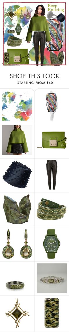 """""""Keep Knitting: Olive Branch"""" by bluehatter ❤ liked on Polyvore featuring WALL, Missoni, Bally, Furla, River Island, Frye, Annoushka, Armani Exchange, Azhar and John Hardy"""