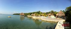 This can be your your view. Bacalar Lagoon Resort, Cabañas FOR SALE gary@5thavenuerealty.net