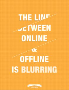 """The line between online & offline is blurring."" - Tim Kopp of ExactTarget"