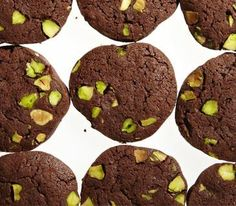 Chocolate-Pistachio Slice-and-Bake Cookies - replace pistachios with almonds and then we're in business!