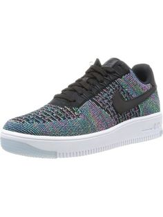 reputable site 20192 f212e Nike Men s AF1 Ultra Flyknit Low Black Bl Lgn Vltg Grn Pnk Blst Basketball  Shoe 9 Men US ❤ Nike