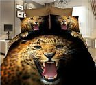 3D Leopard Printed Queen Bedding Set Duvet Cover w/ Pillowcase 200cm x 230cm