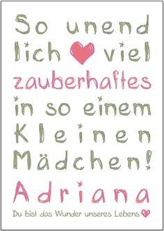 GRAFIK, Schrift-Design, Urkunde Geburt / Taufe von art-gallmann auf DaWanda.com