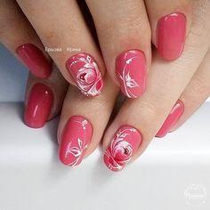 For when I'm better at this nail game😊 Fancy Nails, Cute Nails, Pretty Nails, Cute Nail Art, Spring Nail Art, Spring Nails, Nail Manicure, Gel Nails, Flower Nail Art