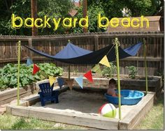 DYI back yard for toddlers | DIY backyard beach