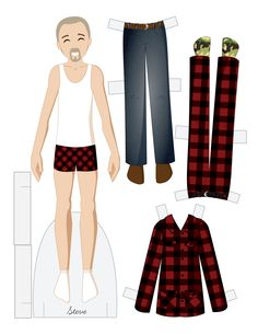 Paper dolls by Julie Allen Matthews. Paper Doll School features free printable paper dolls and tips about making paper dolls. Doll Crafts, Diy Doll, Barbie, Diy Paper, Paper Crafts, History Of Paper, Paper Doll Costume, Paper Dolls Printable, Paper People