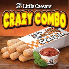 Little Caesars Crazy Bread Combo « Coupon Saving Sista Lunch Items, Menu Items, Crazy Bread, Good Food, Yummy Food, Printable Coupons, Restaurant Recipes, Hot Dog Buns, Cravings