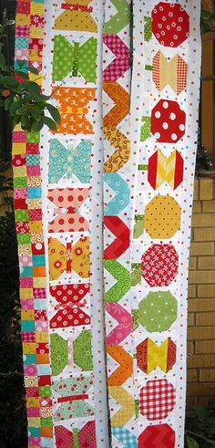 First 4 rows for Row Along by Bev Bryan by 44th Street Fabric Fan, via Flickr