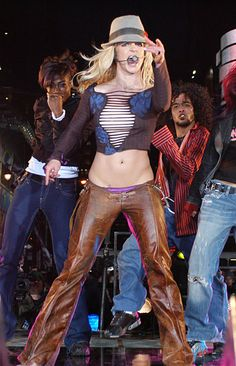 Britney Spears during TRL in New York City circa 2003