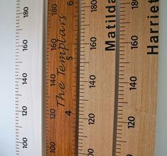 Wooden Ruler Height Chart - Up Up Away
