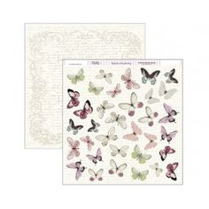 Papel scrap 30,5 x30,5 mariposas rosas