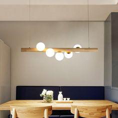 Tram Contemporary Linear Pendant Light Glass Globe / Kitchen Island Pendant L…