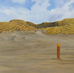 Painting: Rob Donders   Oil on canvas - DUIN EN STRAND