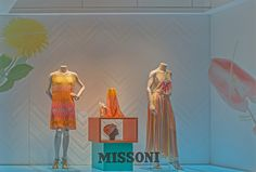 Missoni Tokyo Windows Display 2015 as Part of the World Fashion Window Displays on MAY 7th in Tokyo Japan