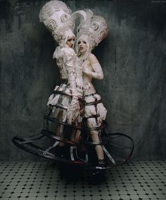 double marie antoinette and cage skirts
