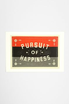 The Neighborhood Studio Pursuit Of Happiness Art Print. Different colors would be better