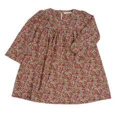 poppy rose burgundy liberty dress