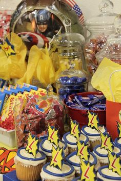 Super Hero Party Sweets Table