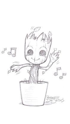 Cute dancing Groot!