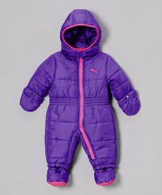 Take a look at this Simply Purple Puffy Hooded Bunting - Infant by PUMA on #zulily today!