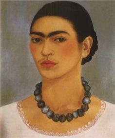 Frida Kahlo - Self portrait with necklace - 1933