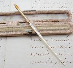Antique Mother of Pearl Calligraphy/Quill Pen