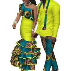 African Matching Clothing For Couple Man Woman Cotton Print Send Your – Afrinspiration African Fashion Dresses, African Dress, Nigerian Fashion, African Outfits, African Style, Traditional African Clothing, African Print Clothing, African Prints, African Dashiki