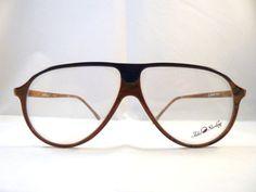 John Sterling Vintage aviator Eyeglasses for Men: brown oversized frames Old Stock 1980s