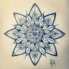 I absolutely love the intricate design of Mandala so much so that I have finally chosen the design to be my right shoulder tattoo. DRAW MY MANDALA ON GRID PAPER, DUH! Mandala Tattoo Design, Tattoos Mandala, Tattoo Henna, Tattoo Designs, Design Tattoos, Mandala Sketch, Sternum Tattoo, Trendy Tattoos, Love Tattoos