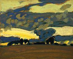 J.E.H. MacDonald: Fall Evening, Thornhill, 1930